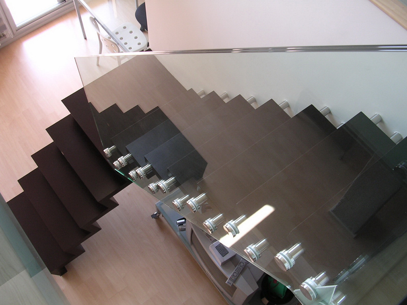 Escalera vidrio y acero inoxidable Terrassa