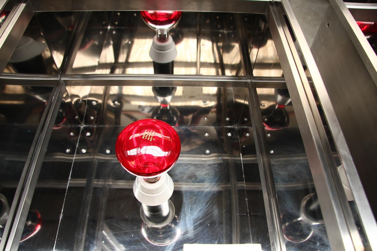 Expositor infrarrojo vidrio termico detalle 01