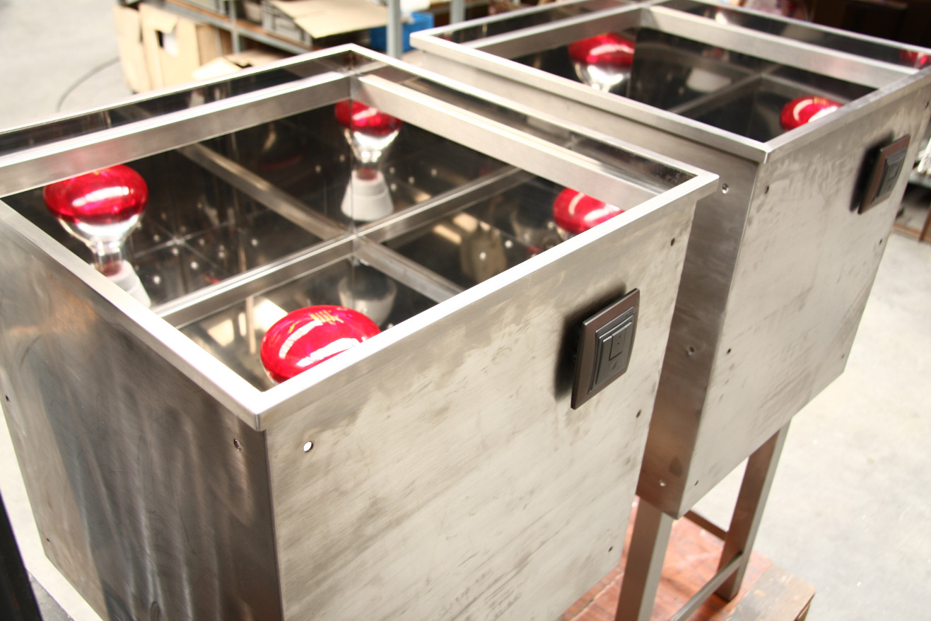 Expositor infrarrojo vidrio termico