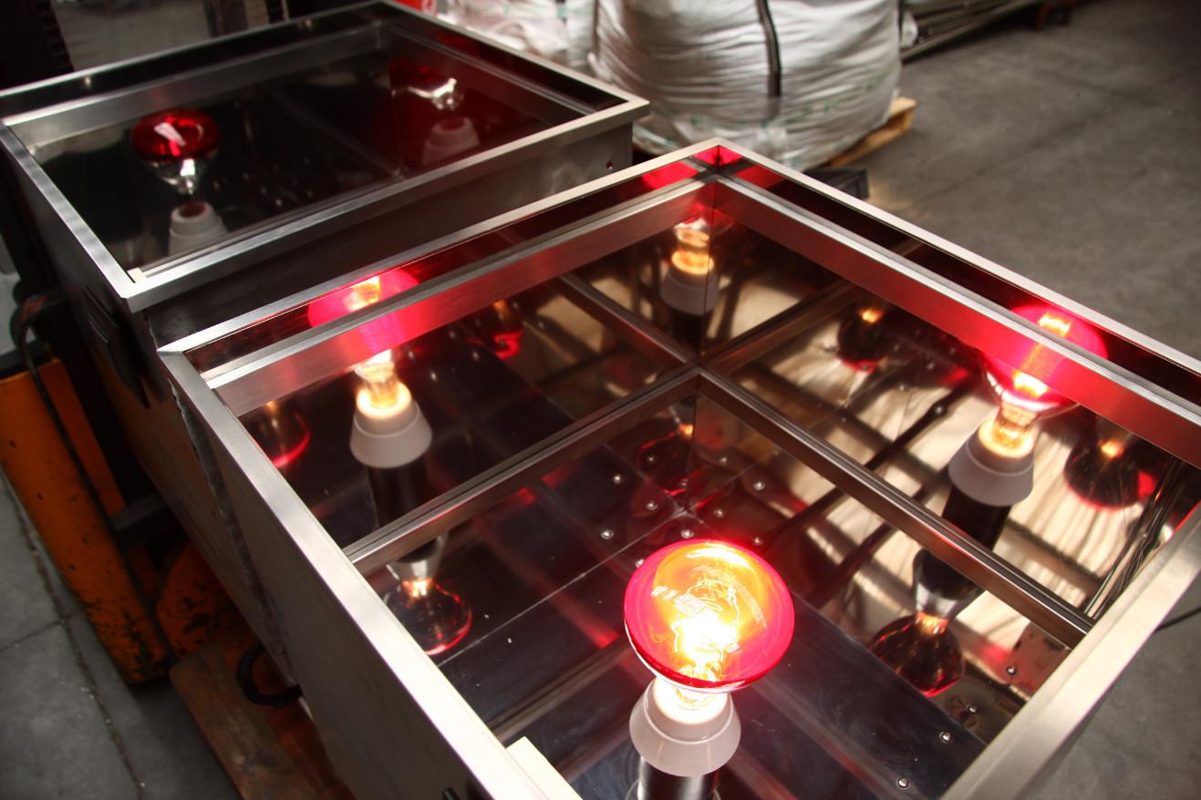 Expositor infrarrojo vidrio termico detalle 02