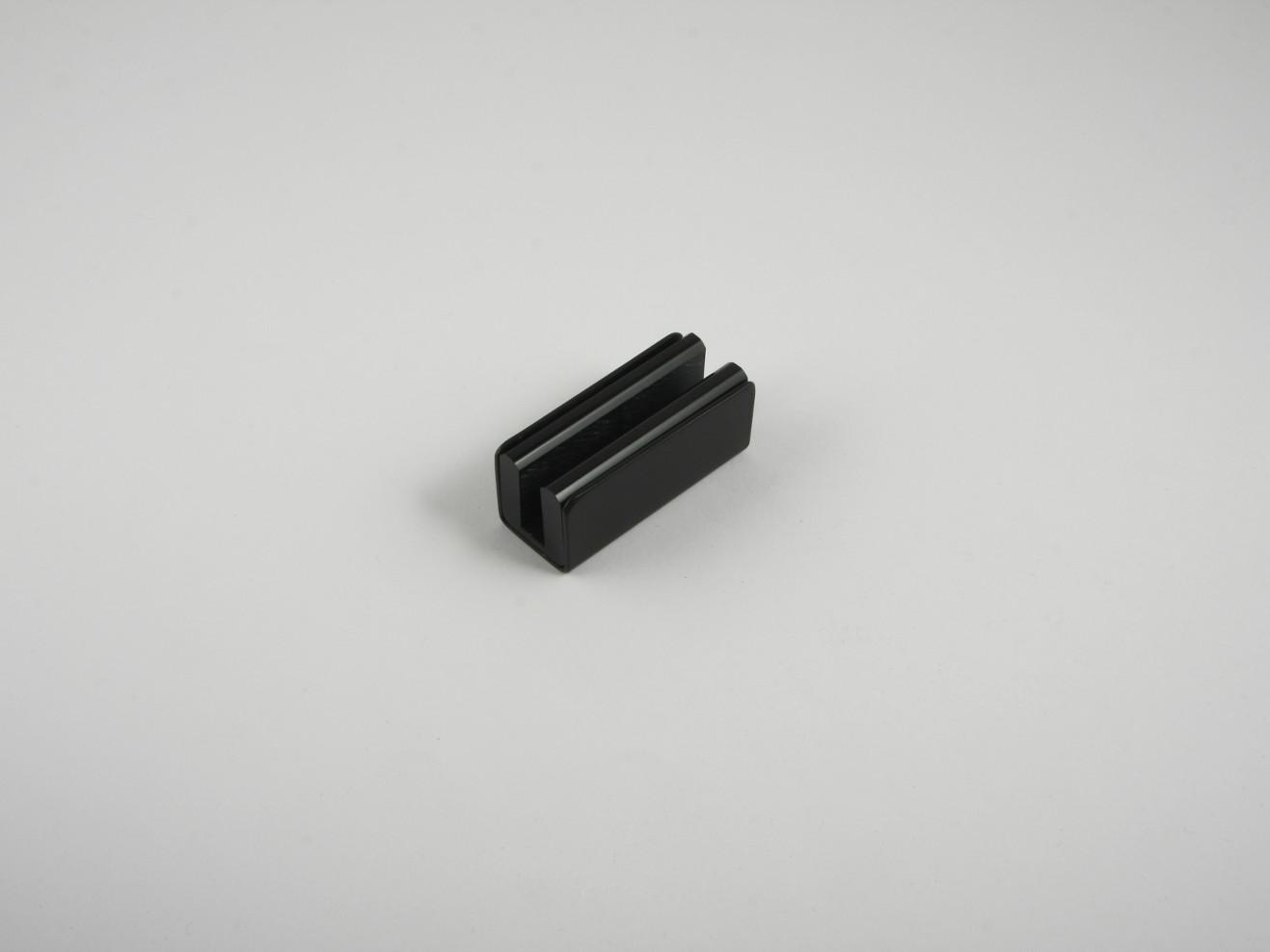 Guía de vidrio de polea 5007 acabado negro